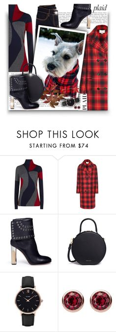 """Check It: Plaid"" by asia-12 ❤ liked on Polyvore featuring Victoria Beckham, Gucci, Alexander McQueen, Mansur Gavriel, CLUSE, Thomas Sabo and plaid"