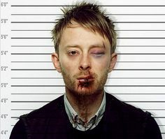 Celebrity Mugshot : Thom Yorke created by Lacey Grant   More image here http://dmards.org/category/celebrities/