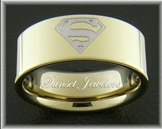 superman tungsten wedding rings with free inside engraving sizes 5 55 6 65 7 75 8 85 9 95 10 105 11 115 12 125 13 135 - Superman Wedding Ring