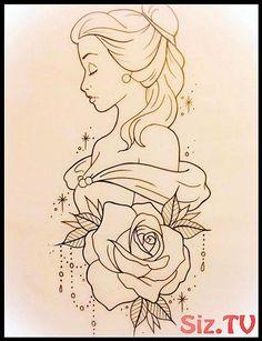 Tattoo Disney Pixar Belle 25 Trendy Ideas - My list of best tattoo models Disney Tattoos, Disney Sleeve Tattoos, Disney Pixar, Disney Art, Films Disney, Disney Ideas, Walt Disney, Disney Drawings Sketches, Easy Drawings
