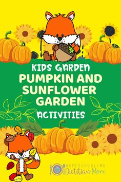 Learning the life cycle of pumpkin and sunflower PLUS Opportunity for hands-on planting of real seeds, studying the sunflower in greater depth, and more!  #kidsgrowingplantsactivity #kidsgardencrafts #kidsgardeningideasvegetables #pumpkin #sunflower # Kindergarten Activities, Preschool Activities, Garden Crafts For Kids, Growing Sunflowers, Sunflower Garden, Fall Preschool, Kids Meal Plan, Healthy Eating For Kids, Nutrition Information