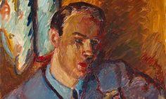 Striking second world war portrait of Roald Dahl goes on display