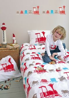 Fred the Dog Loco Duvet Cover Set. Train