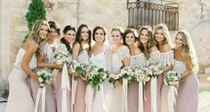 Amazing Vintage Wedding Party Dresses - It is really possible to gather classic things, or maybe you like to accumulate good good quality new products that Bohemian Bridesmaid, Mismatched Bridesmaid Dresses, Wedding Bridesmaid Dresses, Wedding Party Dresses, Bridal Dresses, Wedding Bouquets, Lilac Bridesmaid, Bohemian Weddings, Party Gowns