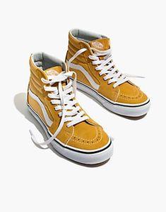 Vans® Unisex High-Top Sneakers in Ochre Suede : shoes & sandals High Top Vans Outfit, High Top Sneakers, Vans Sneakers, Vans Shoes, Hightop Shoes, Suede Sneakers, Sock Shoes, Shoes Sandals, High Heels