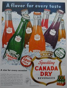 vintage soda ads | 1950s CANADA DRY soda vintage advertisement illustration - a photo on ...