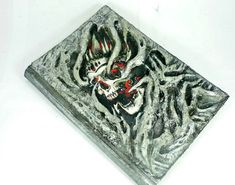 Items similar to Polymer clay cover journal, blank book of shadows, wiccan spell book, Necronomicon grimoire on Etsy Wiccan Spell Book, Wiccan Spells, Witchcraft, Dark Books, Old Books, Blank Book Of Shadows, Create This Book, Blank Page, Magic Book