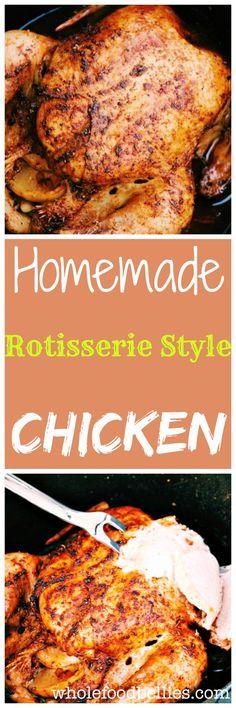 Homemade Rotisserie Style Chicken