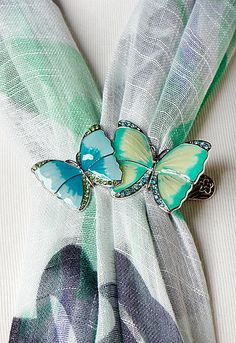 Claire Butterfly Scarf Clip #CBFallFavorites