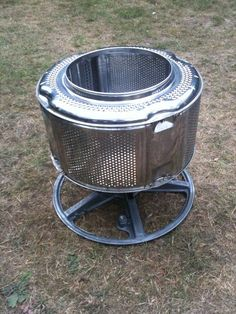 Stainless Steel Garden Incinerator - Patio Heater from recycled scrap. fire pits with wheels Stainless Steel Garden Incinerator - Patio Heater From Recycled Scrap. Outdoor Projects, Garden Projects, Outdoor Fire, Outdoor Decor, Washing Machine Drum, Gazebos, Diy Fire Pit, Fire Pits, Rocket Stoves