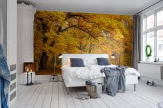 Rebel Walls Wall mural Yellow Leafy Trees