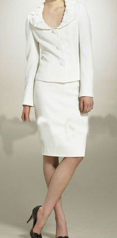 white wedding suit for women