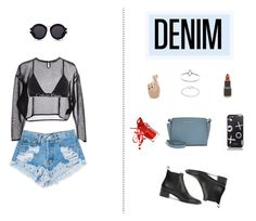 """Denim Cutoffs"" by spark-llay ❤ liked on Polyvore featuring Levi's, Yves Saint Laurent, Karen Walker, Georgia Perry, Acne Studios, MICHAEL Michael Kors and Calvin Klein Underwear"