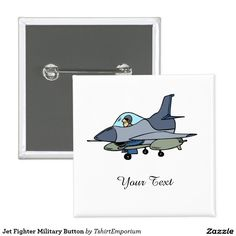 Jet Fighter Military Button