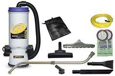 "ProTeam Super CoachVac HEPA Backpack Vacuum |10 qtr./11 L. Power 1188W, 9.9 Amp | Airflow 150 CFM, Static Lift 100"" | Sound level 66 db.…"
