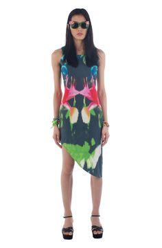 Asymmetric Print Dress. $224.29, via The Cools