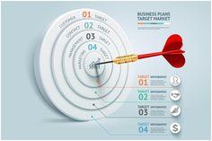 Business Target Marketing Dart Idea. Business Infographic. $8.00