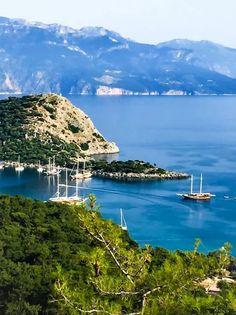 Райская  бухта, Фетхие, Турция. www.russkiygidvstambule.com Индивидуальные экскурсии по Турции
