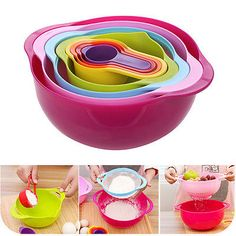 8pcs #multifunctional fruits #vegetable storage rainbow #salad bowl diy baking to,  View more on the LINK: http://www.zeppy.io/product/gb/2/322335273917/