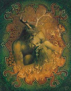 Cernunnos and Danu #CelticGods