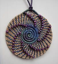 Coiled Necklace Kits - Judy K. Jewelry Art, Beaded Jewelry, Jewellery, Pine Needle Crafts, Linen Baskets, Flower Costume, Woven Chair, Pine Needle Baskets, Pine Needles