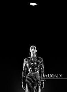 BALMAIN FALL/WINTER 2016 ADVERTISING CAMPAIGN  Creative Direction: Pascal Dangin at KiDS Creative Director: Steven Klein Starring Kim Kardashian West