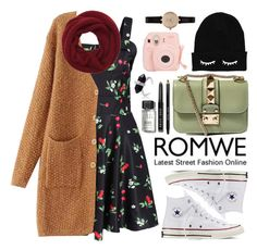 """Romwe"" by oshint ❤ liked on Polyvore featuring Converse, Valentino, Bobbi Brown Cosmetics, Wyatt, Barbour, women's clothing, women's fashion, women, female and woman"