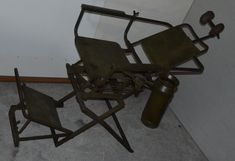 dental patient chair - bauhaus style -metal frame basic wood etc