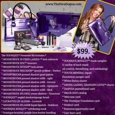 Younique New Presenter Kit! Gorgeous new bag and hundreds in amazing products for only $99! www.TheDivaDonna.com