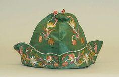 Man's cap, ca. 1725; MMA C.I.46.9.224