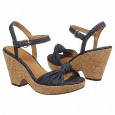 SALE - Clarks Bella Peace Wedge Heels Womens Blue Leather - Was $110.00 - SAVE $11.00. BUY Now - ONLY $99.00.
