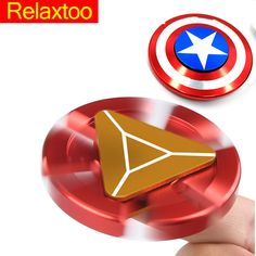 Captain America Ironman Fidget Hand Spinner Super Hero spiner Water Droplets Toys For Autism and Anxiety Anti-stress Adults Gift www.peoplebazar.net    #yourhashtag