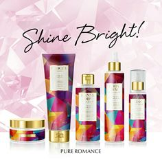 Glamourous and alluring, colorful and unique, Pure Romance's Exotic Jewell is like nothing you've experienced before. This new bath line collection will leave your skin feeling like an opulent treasure while caressing you with bouquets of jasmine, sparkling citrus, and luscious neroli plums. Available for a limited time only, contact me today for ultimate luxury.