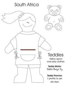 Teddys colouring sheet
