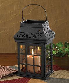 Look what I found on #zulily! 'Love Home Family Friends' Lantern #zulilyfinds