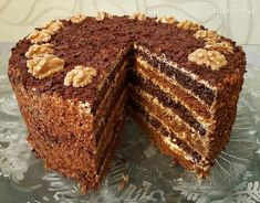 Medová torta so smotanovo-karamelovým krémom (bez vaľkania) (fotorecept) - Recept Sweet Desserts, Deserts, Muffin, Food And Drink, Breakfast, Cakes, Recipes, Wedding Cakes, Food And Drinks