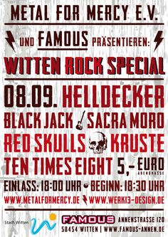 Poster for a rock music event