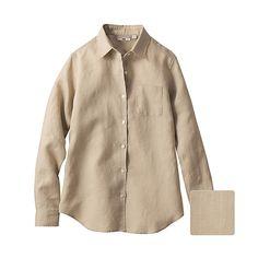 beige linen shirt  - roll up sleeves?
