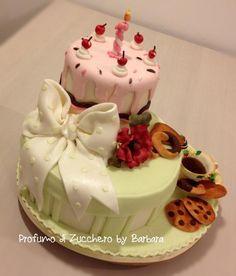 Flower Birthday Cake Cake By Sandra Receptidee Bakery - Birthday cake barbara