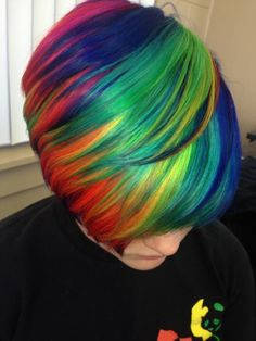 Beautiful Short Rainbow Hair - Hair Colors Ideas