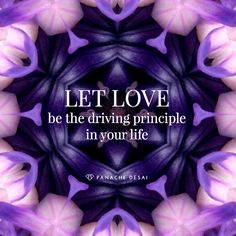 let love lead the way ...