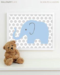 Baby Nursery Art, Safari Animal Nursery Print, Jungle Elephant Children Kids Wall Art Kids Room Playroom Baby Nursery Decor - One 8x10. $17.00, via Etsy.