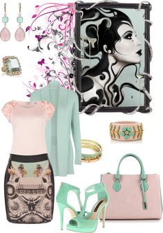 """""""In The Mo""""Mint"""""""" by monica-jordan ❤ liked on Polyvore"""