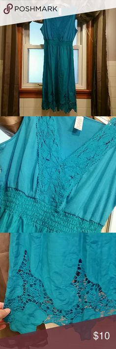 Teal Sun Dress Medium Teal Sun Dress Medium, never worn but tags were removed Dresses