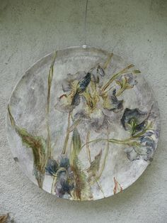 "Claire Basler, artist's studio.  Barbotine on Earthenware.  Barbotine is a derivative of the French for ""ceramic slip."" Barbotine can refer to both decorating techniques and to a specific type of pottery."
