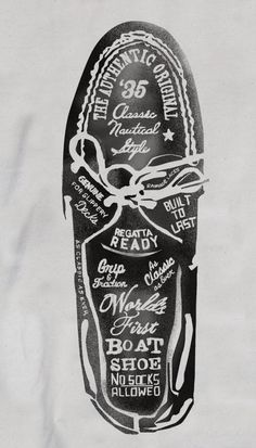 Glenn Wolk Design. Ad for Sperry shoes. Love the vintage feel and hand lettering.