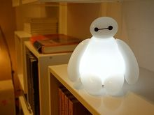 infoThink BIG HERO 6 - Baymax USB LED Lamp. We have one of these. Very sturdy, changes colors or stays bright white. You can move his arms and head. It's great!