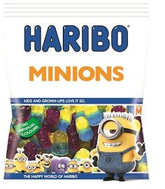 Haribo Despicable Me Minions Gummy Candy 4 x Bags: 4 x Large Bags Shipped from the UK Minions, Minion Food, My Minion, Minion Birthday, Minion Party, Candy Recipes, Gourmet Recipes, Fini Tubes, Candy Videos