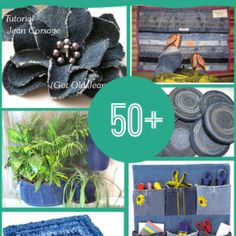 Wonderful 50 Craft Ideas for Old Jeans