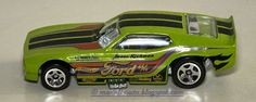 Mattel Hot Wheels 71 Mustang Funny Car Decals Malaysia 2014 Green